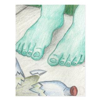 魔法の緑のコップの足 ポストカード