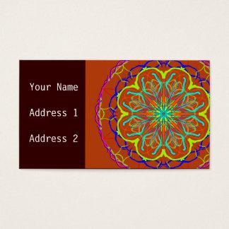 魔法の花の曼荼羅の名刺 名刺