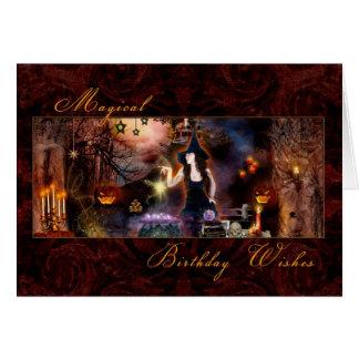 魔法の誕生日-魔法使いの空白のなカード カード
