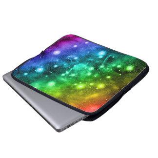 魔法の輝きの宇宙の虹のラップトップスリーブ ラップトップスリーブ
