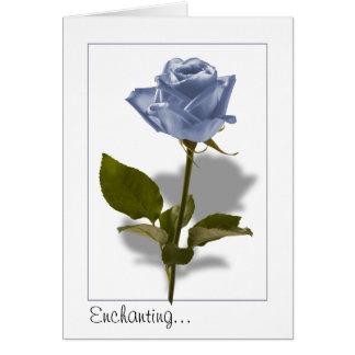魔法の青のバラ カード