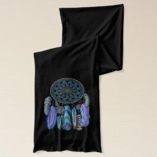 魔法の鳥のターコイズを持つ夢のキャッチャーは羽をつけます スカーフ