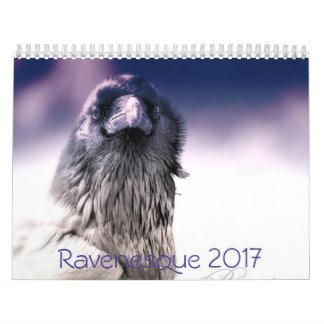 魔法の2017羽のワタリガラスのカレンダー カレンダー