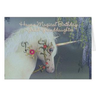 魔法ひ孫娘のユニコーンのバースデー・カード カード