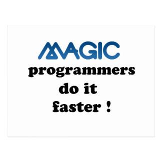 魔法プログラマーはそれをより速くします ポストカード