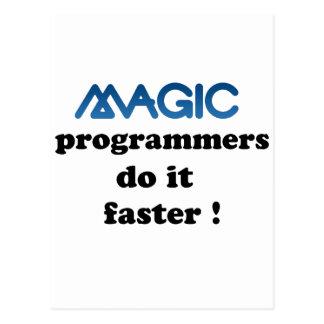 魔法プログラマーはそれをより速くします 葉書き