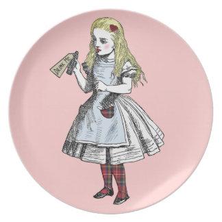 魔法不思議の国のアリスは私をプレート飲みます ディナープレート