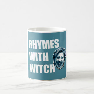 魔法使いのコーヒー・マグとのヒラリー・クリントンの韻 コーヒーマグカップ