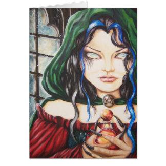 魔法使いのゴシック様式暗いファンタジーNotecard カード