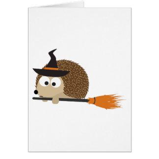 魔法使いのハリネズミ。 ハッピーハローウィン! カード