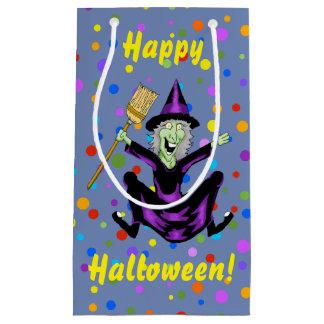 魔法使いのハロウィンの幸せなギフトバッグ スモールペーパーバッグ