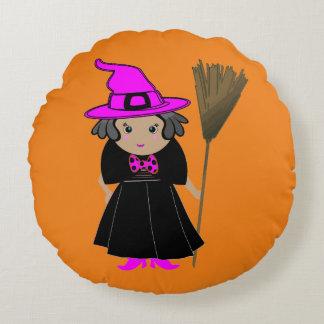魔法使いのハロウィンの枕-子供のフレンドリーな装飾 ラウンドクッション