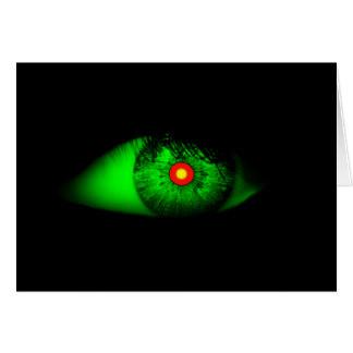魔法使いのハロウィンの気味悪くクールな目 カード