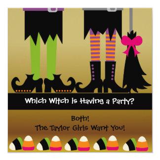 魔法使いのハロウィンの誕生会の招待 13.3 スクエアインビテーションカード