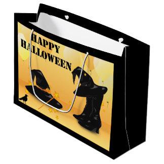 魔法使いのハロウィンの魅惑的な魔法使いLGのギフトバッグ ラージペーパーバッグ
