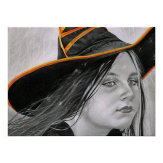 魔法使いのハロウィン美しいポスター ポスター