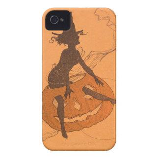 魔法使いのハロウィーンのカボチャのちょうちんのカボチャ Case-Mate iPhone 4 ケース