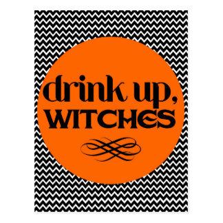 魔法使いの上の飲み物 ポストカード