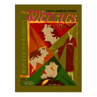 魔法使いの友人の11月の雑誌 ポストカード