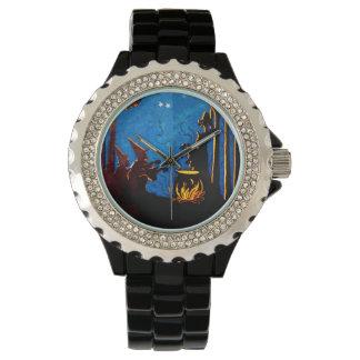 魔法使いの大がま夜ヴィンテージハロウィン 腕時計