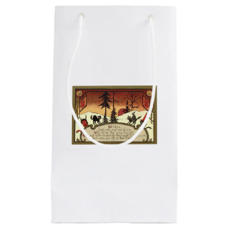 魔法使いの悪魔のジャックOのランタンのカボチャ満月 スモールペーパーバッグ