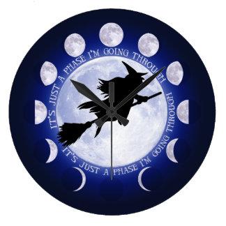 魔法使いの月段階 ラージ壁時計