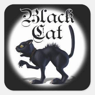 魔法使いの猫のステッカー スクエアシール