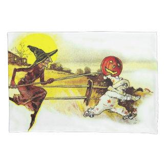 魔法使いの衣裳の子供のジャックOのランタンのカボチャ 枕カバー