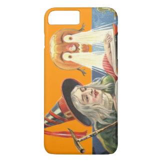 魔法使いの読本のハロウィーンのカボチャのちょうちんのオレンジ iPhone 8 PLUS/7 PLUSケース