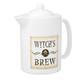 魔法使いの醸造物のヴィンテージのハロウィンの警告表示