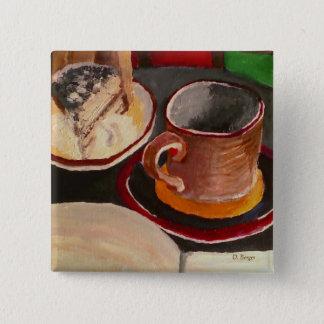 魔法使いの醸造物: ティラ・ミ・ス、コーヒー及びボタンを余りに書くこと 5.1CM 正方形バッジ
