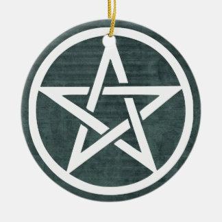 魔法使いはこの家の星形五角形のハンガーを保護します セラミックオーナメント
