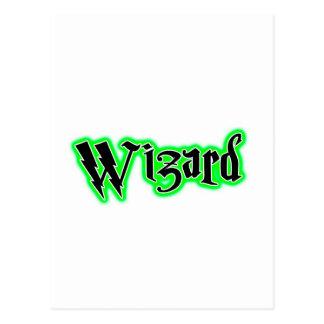 魔法使い、魔法綴り ポストカード