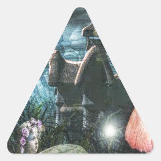 魔法妖精 三角形シール