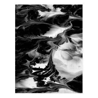 魔法(黒く及び白い抽象美術)の~ ポストカード