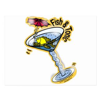 魚およびトニック ポストカード