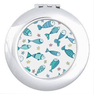 魚およびヒトデが付いているパターン