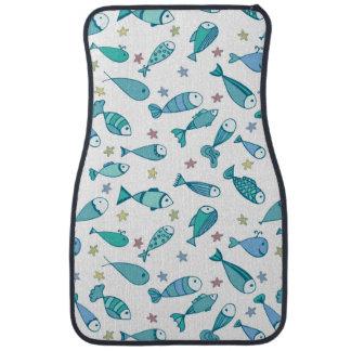 魚およびヒトデが付いているパターン カーマット