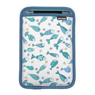 魚およびヒトデが付いているパターン iPad MINIスリーブ