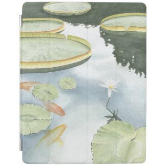 魚およびユリとのコイの池の反射 iPadスマートカバー