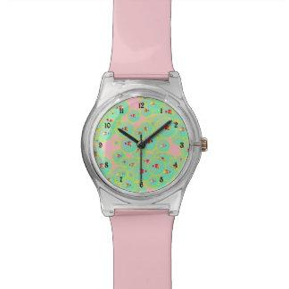 魚および泡 腕時計