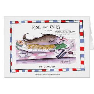 魚および破片のレシピ、贅沢なfernandes カード
