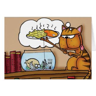 魚および破片猫 カード