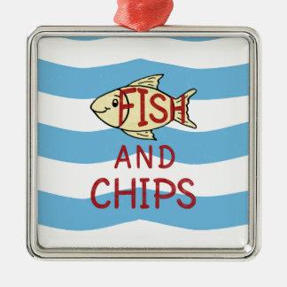 魚および破片2 メタルオーナメント