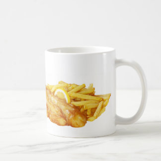 """""""魚および破片""""のデザインのマグ コーヒーマグカップ"""