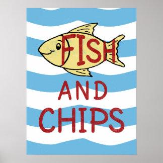 魚および破片 ポスター