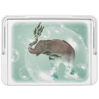 魚が付いている泡のおもしろいな象 IGLOOクーラーボックス