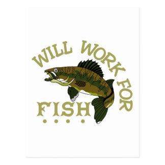 魚のために働きます ポストカード