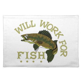 魚のために働きます ランチョンマット