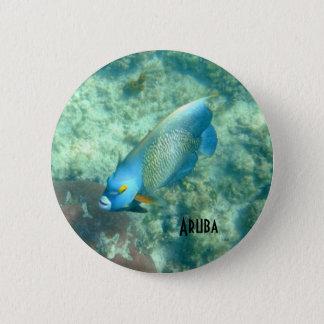 魚のアルバの水中写真をカスタマイズ 5.7CM 丸型バッジ